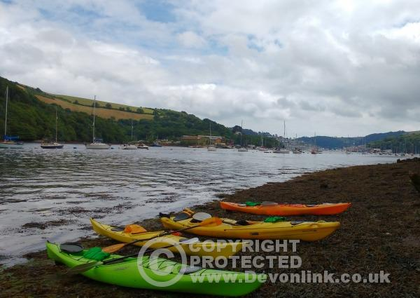 Kayaking on the River Dart