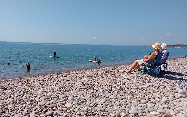 Chilling on Budleigh Beach