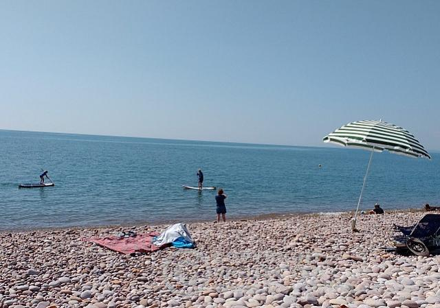 Paddle Boarding Budleigh Beach