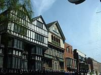 Old Tudor buildings in Exeter High Street
